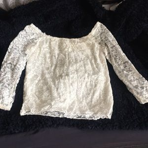 Tops - Off shoulder laced top